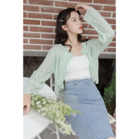 skirt Summer 2021 S,M,L,XL blue Middle-skirt commute High waist A-line skirt Solid color Type A 18-24 years old 30% and below other other Korean version