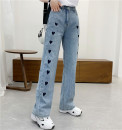 Jeans Spring 2021 Denim blue S,M,L,XL,2XL trousers High waist Wide legged trousers routine 18-24 years old light colour Babaon 30% and below
