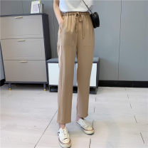 Casual pants Navy, khaki, black S,M,L Summer 2021 trousers Straight pants Natural waist Versatile Thin money 18-24 years old 30% and below Babaon other pocket