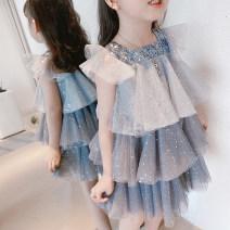 Dress female Baby element 100cm,110cm,120cm,130cm,140cm Polyester 100% summer princess Skirt / vest Solid color cotton Cake skirt Class B 2 years old, 3 years old, 4 years old, 5 years old, 6 years old, 7 years old, 8 years old