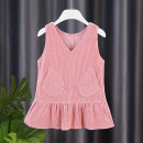 Dress Pink pocket, bow Red, kitten yellow, kitten pink female Other / other 80cm,90cm,100cm,110cm,120cm,130cm Other 100% spring and autumn Korean version Skirt / vest Solid color corduroy A-line skirt ZJ79662 Class A Chinese Mainland Zhejiang Province Huzhou City