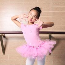 Children's performance clothes Pink + white, pink + Pink female 110cm,120cm,130cm,140cm,150cm Huijian Class A practice Cotton 90% modal fiber (modal) 10% Pure cotton (100% content)