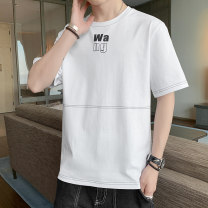 T-shirt Youth fashion Other thin Short sleeve Crew neck Self cultivation Travel? summer MT002991 Cotton 100% youth routine tide Cotton wool cloth 2021 Alphanumeric printing cotton other other More than 95% Antibacterial M,L,XL,2XL,3XL,4XL Gray, white, black, beige