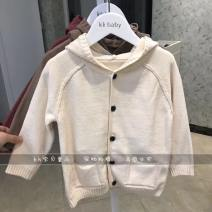 Sweater / sweater Size 90 (recommended height about 75cm), size 100 (recommended height about 85CM), Size 110 (recommended height about 95cm), Size 120 (recommended height about 105cm), Size 130 (recommended height about 115cm) cotton neutral Hooded white, hooded coffee, hooded red Other / other