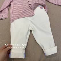 trousers Other / other neutral 90 (recommended height about 75cm), 100 (recommended height about 85CM), 110 (recommended height about 95cm), 120 (recommended height about 105cm), 130 (recommended height about 115cm) White fish casual pants Don't open the crotch