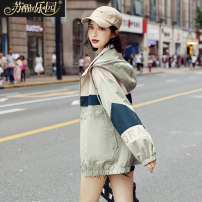 short coat Autumn of 2019 S M L Fruit green Long sleeves routine routine singleton  easy other routine Hood zipper letter 25-29 years old Paradise of awakening 31% (inclusive) - 50% (inclusive) zipper nylon Pure e-commerce (online only)