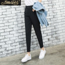 Casual pants black S M L XL Spring of 2019 trousers Straight pants Natural waist commute routine 25-29 years old 91% (inclusive) - 95% (inclusive) SXKl9017 Paradise of awakening other Simplicity Polyester 95% polyurethane elastic fiber (spandex) 5% Pure e-commerce (online only)