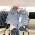 Jeans Summer 2021 blue S,M,L,XL shorts High waist routine 18-24 years old Button other light colour 51% (inclusive) - 70% (inclusive)