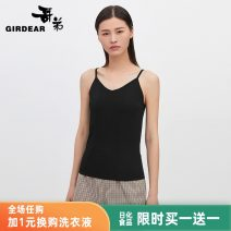Vest sling Summer 2020 S M L XL singleton  routine Straight cylinder camisole Solid color 30-34 years old 30% and below polyester fiber Girdard / brother-in-law Same model in shopping mall (sold online and offline)