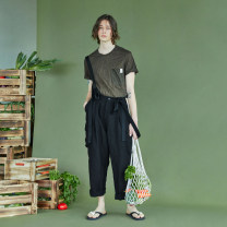 Casual pants Yewu Youth fashion Mudsliver S,M,L,XL routine trousers Other leisure easy Micro bomb 21CM9364K summer Flax 80% Lyocell fiber (Lyocell) 20% straps other other