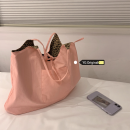 Bag The single shoulder bag cotton other Other / other Green, pink brand new Japan and South Korea large soft yes Solid color Double root Two shoulders and one shoulder Yes youth mobile phone bag