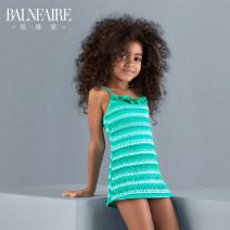 Children's swimsuit / pants Balneaire / van der ANN 4 (suitable for 90cm-105cm) 5-6 (suitable for 105cm-120cm) 7-8 (suitable for 120cm-130cm) 9-10 (suitable for 130cm-140cm) 11-12 (suitable for 140cm-150cm) 12-13 (suitable for 150cm-155cm) Green and white Children's one piece swimsuit female nylon