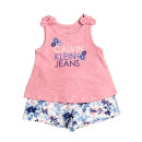 suit Other / other Lotus root color female summer Britain Sleeveless + pants 2 pieces Thin money No model Socket nothing Cartoon animation cotton friend Thanksgiving T921 Class B Cotton 60% modal 40% 12 months, 18 months, 2 years old, 3 years old, 4 years old