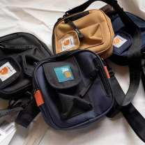 Bag Inclined shoulder bag Nylon  Small square bag Other / other brand new Japan and South Korea Small leisure time soft zipper no Solid color Single root One shoulder portable messenger Yes youth other letter polyester fiber Certificate bag, mobile phone bag, sandwich zipper bag, zipper pocket