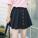 skirt Spring 2020 S,M,L black Short skirt Sweet Natural waist Pleated skirt Solid color Type A 18-24 years old twelve point two one 51% (inclusive) - 70% (inclusive) college