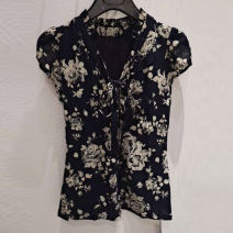 shirt Rose print, blue solid, bow print, red fragmentary, red check, gold solid 2 = s, 3 = m, 4 = L, 5 = XL, 6 = XXL Summer 2021 other 96% and above Short sleeve commute Regular V-neck Socket routine Broken flowers Self cultivation Pinge Dixin Korean version Bow tie nylon