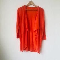 Wool knitwear Autumn 2020 M, L Orange Long sleeves singleton  Cardigan nylon 30% and below Medium length Thin money commute easy V-neck routine Solid color 33129V9010 25-29 years old Yiigue / Yigu Splicing