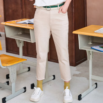 Jeans Summer 2020 trousers High waist Straight pants Thin 25-29 years old light colour 69XB4339 XY / reverie 96% and above XS,S,M,L khaki