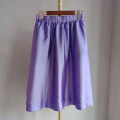 skirt Spring 2021 Xs, s, M violet Mid length dress Natural waist other Solid color Type A More than 95% other black kaka polyester fiber