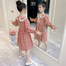 Dress Collection Plus purchase priority delivery red female Bedo Lulu Other 100% spring and autumn Korean version Long sleeves Broken flowers other A-line skirt DM-83011 Spring 2021