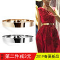 Belt / belt / chain Metal female belt Versatile Single loop Youth, youth, middle age Glossy surface Glossy surface Naked, sequins A09012