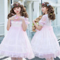 Dress Spring 2021 Single ~ Pink Dress Average size Middle-skirt 18-24 years old Jingyuefang 9795 Pink More than 95% polyester fiber Polyester 100%