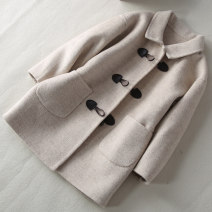 woolen coat Off white neutral Liying Wool No model nothing routine winter Croissants Wool 100% Class C