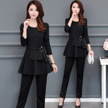 Casual suit Spring 2021 black L,XL,2XL,3XL,4XL,5XL 25-35 years old Other / other 96% and above polyester fiber
