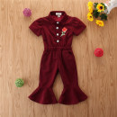 Jumpsuit / climbing suit / Khaki SAMGAMI BABY Class A female 90cm,100cm,110cm,120cm,130cm cotton spring and autumn Short sleeve Long climb No model nothing Cotton 100% Single breasted 12 months, 2 years, 3 years