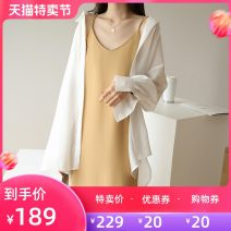 Dress Spring 2021 Black yellow L S M Mid length dress Sleeveless commute V-neck Solid color Socket camisole 25-29 years old Jiazhuli Korean version More than 95% polyester fiber Polyester 100% Pure e-commerce (online only)