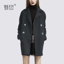 woolen coat Winter 2020 S M L XL XXL dark grey wool 95% and above routine Long sleeves street double-breasted routine tailored collar MCEN126091 My bun 30-34 years old Wool 100% Europe and America