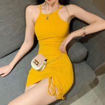 Dress Summer 2021 Gray, pink, yellow, black Average size Short skirt singleton  other 18-24 years old Three point six