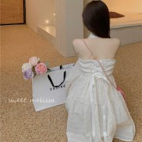 Dress Summer 2021 Middle-skirt Sleeveless singleton  commute Polo collar High waist 18-24 years old 30% and below Hanging neck Korean version 0513 S,M