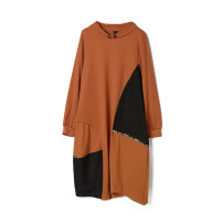 Dress Spring 2021 Red, black, orange F Middle-skirt singleton  Long sleeves Crew neck middle-waisted Socket routine 25-29 years old 9 Charms