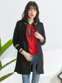 short coat Spring 2021 XS,S,M,L,XL,2XL,3XL,4XL,5XL,6XL,F black Long sleeves routine singleton  routine other zipper letter 30-34 years old 9 Charms