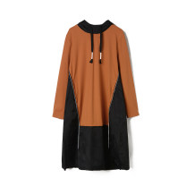 Dress Spring 2021 Red, black, orange F Middle-skirt singleton  Long sleeves Hood middle-waisted Socket routine 25-29 years old 9 Charms