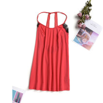 Dress Summer 2020 tomato  XS,S,M,L,XL,2XL,3XL Miniskirt singleton  Sleeveless Crew neck other Socket other other Hanging neck style 25-29 years old 9 Charms 9m