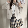 student uniforms Autumn 2020 Suit coat, plaid skirt, white shirt (with bow) S. M, average size
