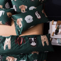 Bedding Set / four piece set / multi piece set The Best Time Cat, Adeline White, Adeline Green Prince, Prince Red, Green Gathering Bear Child, Orange Camille Jimmy, Alpaca Cute and Fun Sixty Other / other 4 pieces animal cotton 200x98 Quilting other cotton Sheet bed type Qualified products Satin 100%