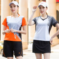 Badminton wear 5101 male royal blue, 5101 male orange, 5101 female royal blue, 5101 female orange, 5110 male white, 5110 male red, 5110 female white, 5110 female red For men and women M. L, XL, XXL, XXXL, larger Shengta Football suit