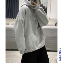 Sweater Youth fashion myfangshao White, light gray, black, khaki, white plush, light gray plush, black plush, khaki plush, gray green plush, medium gray blue plush, > Click to check the size < (select the color in front), medium gray blue, gray green S,M,L,XL,2XL,3XL,4XL,5XL other Socket Plush Hood