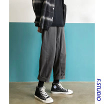 Casual pants myfangshao Fashion City Gray, black, khaki, > Click to view size < (select color in front) M,L,XL,2XL,3XL routine trousers Home Straight cylinder No bullet Four seasons teenagers Japanese Retro 2021 middle-waisted Straight cylinder Three dimensional tailoring No iron treatment