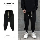 Casual pants myfangshao Youth fashion M,L,XL,2XL routine trousers Other leisure Self cultivation Micro bomb Four seasons teenagers tide 2021 Medium low back Little feet Sports pants washing Solid color Roman cloth
