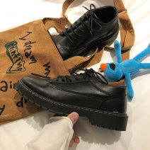 Low top shoes black 39,40,41,42,43,44 Other / other PU Frenulum Round head Outdoor leisure shoes cloth The trend of youth daily Solid color Flat heel spring and autumn Rubber foaming wear-resisting Injection pressure shoes Youth (18-40 years old) Sewing Low heel (1-3cm) PU Korean version