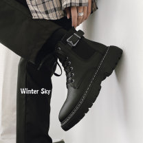 High shoes Other / other 39,40,41,42,43,44 black cloth Round head Frenulum Space revolution Artificial leather cloth The trend of youth Rubber foaming daily Four seasons Solid color Thick bottom Injection pressure shoes keep warm Youth (18-40 years old), middle age (40-60 years old) cloth Spring 2021