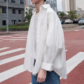 shirt Youth fashion myfangshao M,L,XL,2XL White, black, light blue, > Click to view size < (select color in front) routine stand collar Long sleeves easy Other leisure spring teenagers tide 2021 Solid color No iron treatment