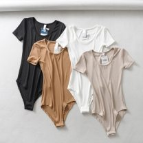 T-shirt White, black, khaki, apricot S, M Short sleeve Self cultivation Regular routine cotton 86% (inclusive) -95% (inclusive)