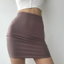 skirt Summer 2020 XS,S,M Black, khaki, iron grey, dark sand red, bean green Miniskirt street High waist skirt Solid color 18-24 years old 71% (inclusive) - 80% (inclusive) other cotton Europe and America