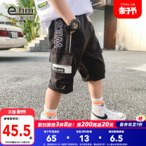 trousers Little elephant ham male 110cm 120cm 130cm 140cm 150cm 160cm black summer Pant There are models in the real shooting Casual pants middle-waisted Don't open the crotch Polyester fiber 69.9% viscose fiber (viscose fiber) 24.4% polyurethane elastic fiber (spandex) 5.7% HD2105 Class B HD2105