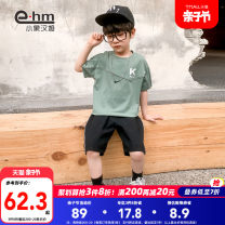 suit Little elephant ham green 110cm 120cm 130cm 140cm 150cm 160cm male summer Short sleeve + pants 2 pieces Thin money There are models in the real shooting Socket nothing cotton children Class B Cotton 95% polyurethane elastic fiber (spandex) 5% Summer 2021